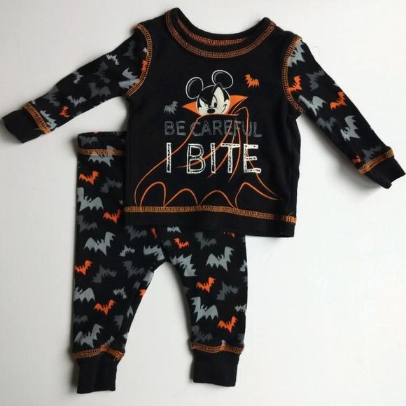 Mickey Mouse Bat Halloween Baby Pajamas * 3-6M
